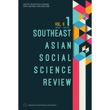 Southeast Asian Social Science Review Vol 6 No 1 January - June 2021