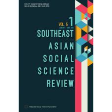 Southeast Asian Social Science Review Vol 5 No 1 January - June 2020