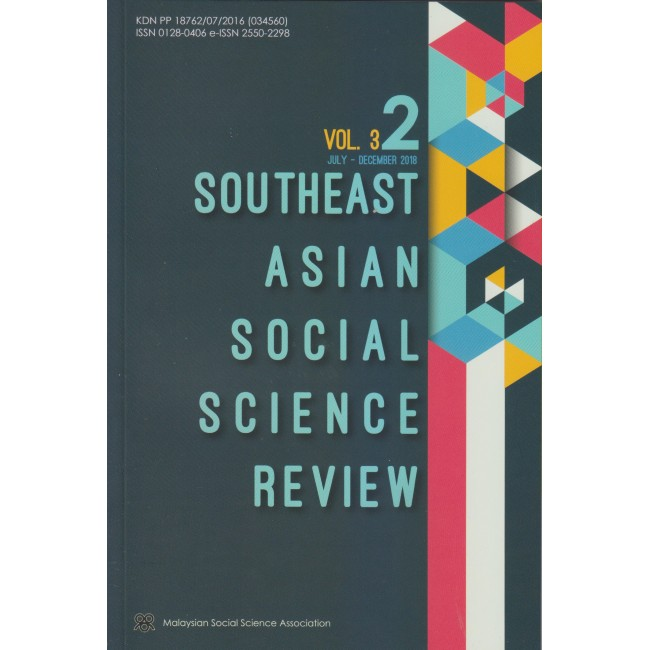 Southeast Asian Social Science Review Vol 3 No 2 July - Dec 2018